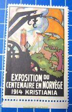 Cinderella/Poster Stamp - 1914 Norway Exposition du Centenaire Kristiania 854