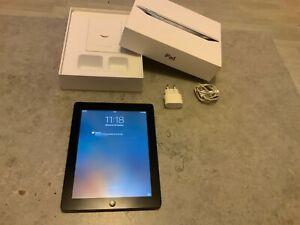 """Tablette Apple iPad 2 9,7"""" tres bon état -16 Go Wi-Fi - Noir + chargeur"""