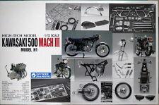 BRANDNEW 1/12 Gunze Sangyo HIGHTECH Kawasaki 500 Mach III H1 KH Triple Model Kit