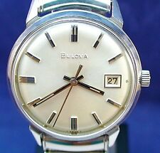 Bulova vintage 1965 Swiss 17J mechanical ss watch with Speidel USA stretch band