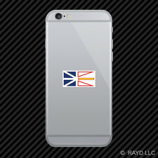 Newfoundland and Labrador Flag Cell Phone Sticker Mobile Die Cut Canada nl