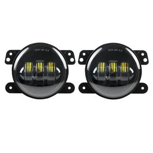 "Eagle Lights 4"" LED Fog Light Kit 6000K White for 2007-2018 Jeep Wrangler JK TJ"
