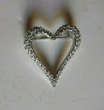 Swarovski Crystal Open Heart Brooch