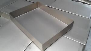 Edelstahl VA Grillwanne Grillschale Auffangwanne 295mm x 404mm x 68mm hoch