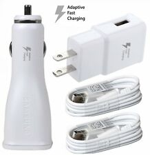 For Samsung Phones OEM Adaptive Fast Car+Home Adapter & 2 Micro USB Cables