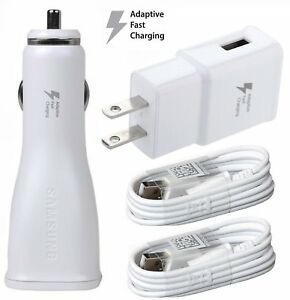 For LG Phones OEM Adaptive Fast Car+Home Adapter & 2 Micro USB Cables