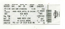 Kid Rock October 19, 2018 Hard Rock Casino, Atlantic City Untorn Ticket