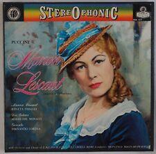 PUCCINI: Manon Lescaut, Pradelli / Tebaldi LONDON OSA 1317 Box NM LP