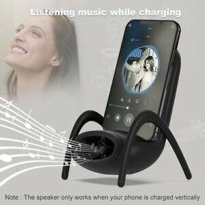 PORTABLE MINI CHAIR WIRELESS CHARGER SUPPLY FOR ALL PHONES WITH MUSICAL SPEAKER