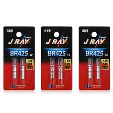 6 x BR425 CR425 3V Lithium Battery Pin Type for Fishing Bobber Refills