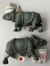 Papo 50148 Indian Rhinoceros Calf Figure x 2