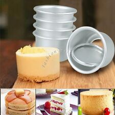 Set of 5 Round Mini Cake Pan Tin Removable Bottom Pudding Mold DIY Baking Tools