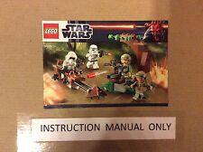 New Lego Instruction Manual ONLY Star Wars Endor Rebel Imperial Trooper 9489