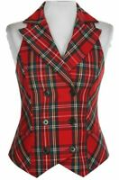 Women's Royal Stewart Double Breasted Tartan Vest Size XS-XXL