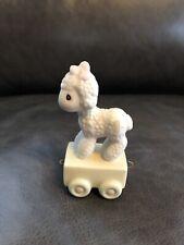 "Precious Moments ""Happy Birthday Little Lamb� Age 1 Train Figurine 15946 Sandal"