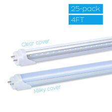 10-25PACK T8 LED Tube Light 4FT 18W Dual-Ended Power Bypass Ballast CLEAR MILKY