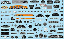 Dashboards For Model Car Armaturenbretter 1:24 Decal