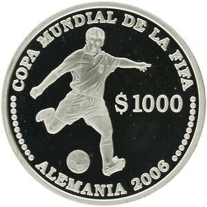 Uruguay - Silver 1000 Pesos Uruguayos Coin - 'XVIII World Cup' - 2003 - Proof