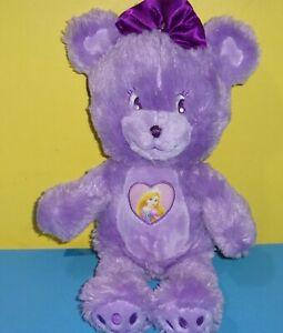 "Disney Tangled Princess Rapunzel Purple Teddy Bear 16"" Plush Stuffed Animal"