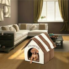 Indoor Kennel Dog House Small Pet Cat Home Soft Warm Cozy Portable Puppy Bed