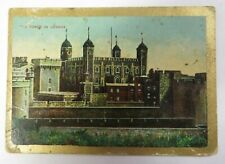 Vtg 1910's Sight & Scenes TOWER IN LONDON Pan Handle Scrap Tobacco Card ENGLAND