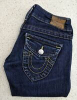 True Religion Womens Jeans Sz 24 6 XS Fit & Flare Dark Blue Denim Skinny Bootcut