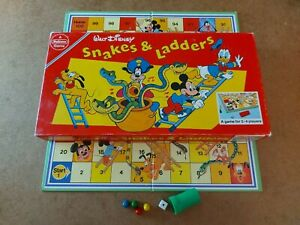 Walt Disney Micky Mouse Snakes And Ladders Board Game - Complete