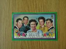 STAMPS BELIZE   QUEEN ELIZABETH 60th BIRTHDAY MINI SHEET 1986