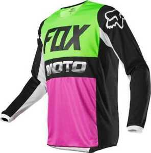 2020 YOUTH KIDS FOX RACING 180 MOTOCROSS MX JERSEY - FYCE GREEN PINK BLACK