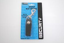 LEATHER KEYCHAIN SNAP KEYRING KEY HOLDER SECURITY TYSON TOOLS NEW TOP LEATHER