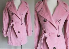 Handmade Pink Womens 1800s Replica Steampunk Military Wool Velvet Jacket Coat S