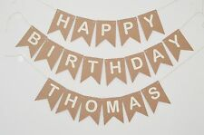 Personalised Happy Birthday Bunting Banner Custom Birthday Name Party Decoration