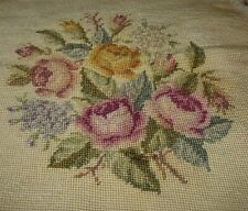 Tapestry Wall Hanging Chair Seat Cover Multi - Colored Flowers Roses Vintage