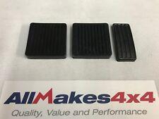 Allmakes 4x4 Land Rover Defender 90, 110, 130 Piastre Pedali Gomme Set x 3
