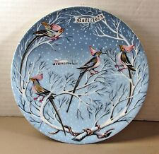 Haviland Limoges 12 days of Christmas 4 Coly Birds 1973 Plate