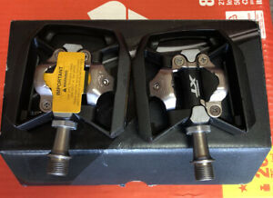 Shimano Deore XT PD-T8000 Platform Pedal set with Cleats. NIB