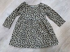 OLD NAVY Cheetah Print Long Sleeved Dress Girls 6-12 months