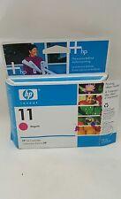 1 New Genuine OEM HP 11 Magenta C4837AN Cartridge Box Date Aug 2007 Box Damage
