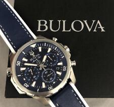 Mint Estate Bulova Marine Star Chronograph Blue Dial Men's Watch 96B287