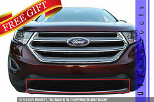 GTG 2015 - 2017 Ford Edge 1PC Gloss Black Overlay Bumper Billet Grille Grill