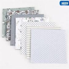 7 pcs 50*50cm Cotton Fabric Assorted Squares Pre-Cut Quilt Quarters Bundle