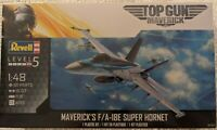 MAVERICK TOP GUN F/A-18 SUPER HORNET REVELL 1:48 PLASTIC MODEL AIRPLANE KIT