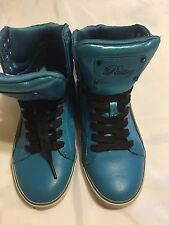Pastry Pop Tart Sweet Crime BLUE hi-top trainers ANKLE BOOTS WOMEN'S SIZE 6.5