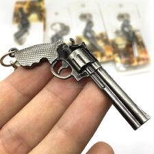 Military Revolver Pistol Weapon Gun Model Metal Keyring Keychain Key Ring Chain