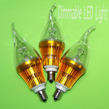 3pcs Candelabra E12 9W LED Chandelier Candle Light Bulb Lamp Dimmable Warm White