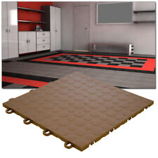 Garage Tiles | Coin Top Brown - Made In the USA