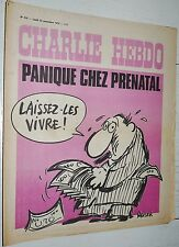 CHARLIE HEBDO N°210 25/11 1974 WOLINSKI CAVANNA CHORON REISER GEBE WILLEM CABU