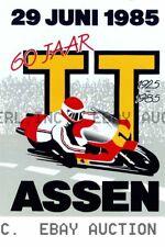 Dutch TT Assen Poster 60th anniversary 1985 ca 8 x 10 print poster prent