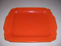 "Art Deco Homer Laughlin Pottery Riviera Fiesta Red 13"" Tray"