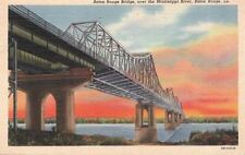 Postcard Baton Rouge Bridge Over Mississippi River Baton Rouge LA